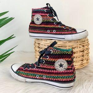 Converse Multi-Color Knit Hi Top Sneakers